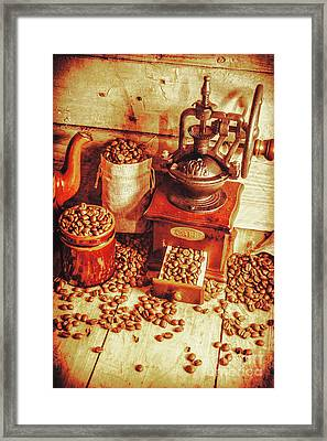 Old Bean Mill Decor. Kitchen Art Framed Print by Jorgo Photography - Wall Art Gallery