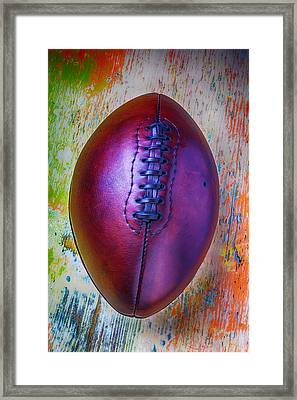 Old Beautiful Leather Football Framed Print by Garry Gay