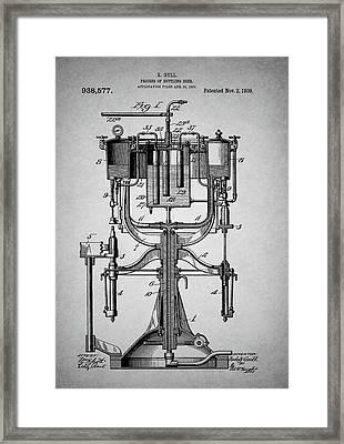Old Beer Bottling Patent Framed Print