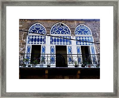 Old Beirut Home  Framed Print
