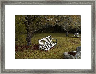 Old Benches Framed Print