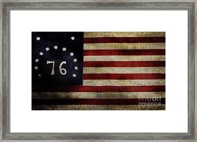 Old Bennington Flag Framed Print by Jon Neidert