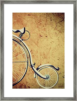 Old Bicycle-part Two Framed Print