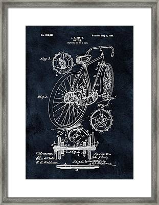 Old Bicycle Patent Illustration 1899 Framed Print by Dan Sproul