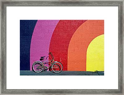 Old Bike Framed Print by Garry Gay
