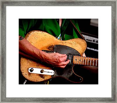 Old Blonde Tele Framed Print