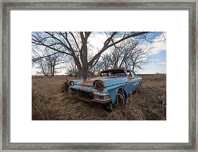 Framed Print featuring the photograph Old Blue by Aaron J Groen