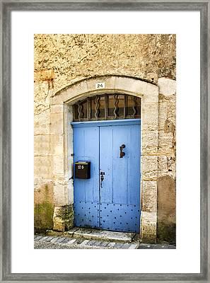 Old Blue Door - France Framed Print