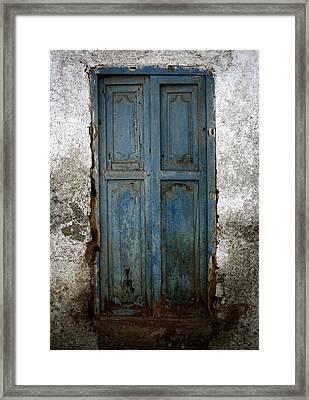 Old Blue Door Framed Print by Shane Rees