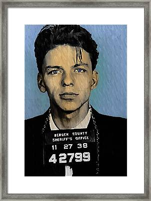 Old Blue Eyes - Frank Sinatra Framed Print by Bill Cannon
