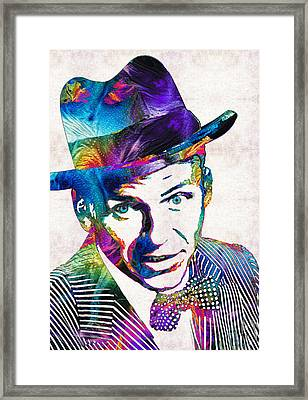 Old Blue Eyes - Frank Sinatra Tribute Framed Print