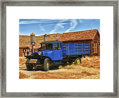 Old Blue 1927 Dodge Truck Bodie State Park Framed Print by James Hammond