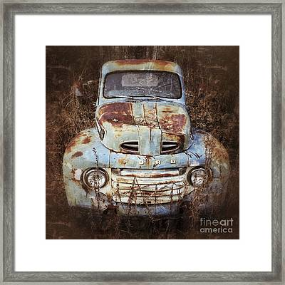 Framed Print featuring the photograph Old Blue by Terry Rowe