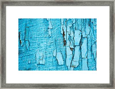Framed Print featuring the photograph Old Blue Wood by John Williams