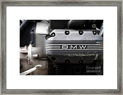 Old Bmw Motorcycle Engine . 7d13654 Framed Print by Wingsdomain Art and Photography