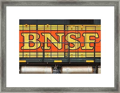 Old Bnsf Logo Framed Print by Todd Klassy