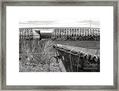 Old Boat At The Cribstone Bridge Framed Print by Olivier Le Queinec