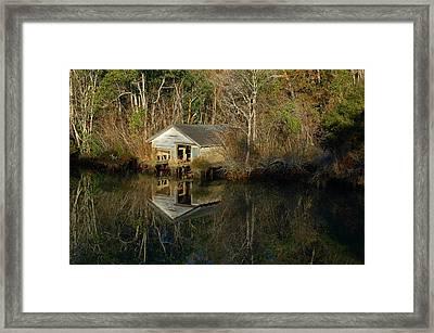 Old Boat House Framed Print