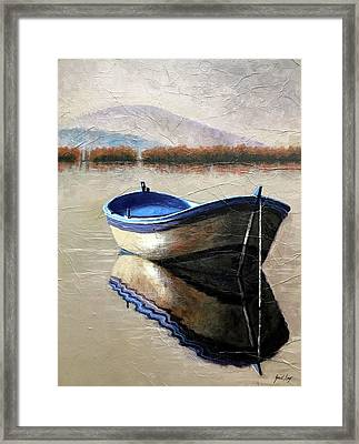 Old Boat Framed Print by Janet King