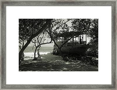 Old Boat On Coast Framed Print by Evgeny Parushin