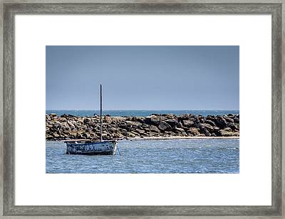 Old Boat - Half Moon Bay Framed Print