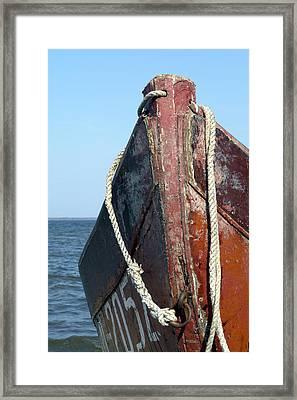 Old Boat Framed Print by Stanislovas Kairys