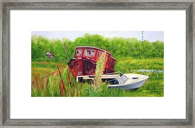 old boats in Belford Framed Print by Leonardo Ruggieri