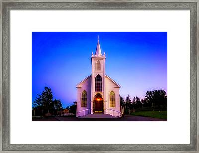 Old Bodega Church Sunset Framed Print by Garry Gay