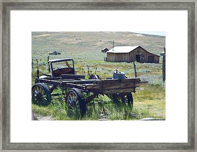Old Bodie Wagon Framed Print
