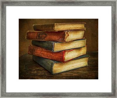 Old Books Framed Print