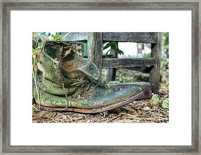 Old Boot Framed Print