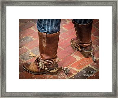 Old Boots Framed Print