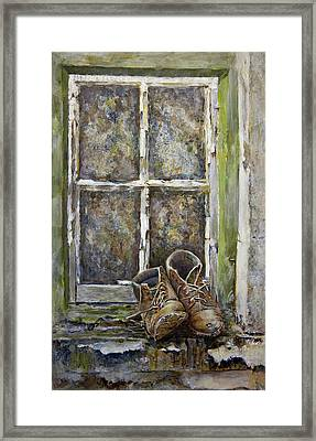Old Boots Framed Print by Marty Garland