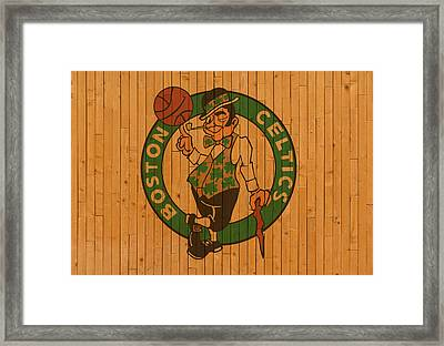 Old Boston Celtics Basketball Gym Floor Framed Print