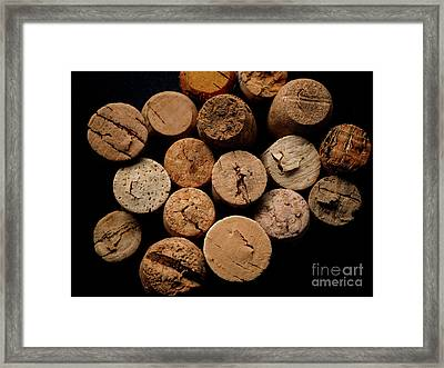 Old Bottle Cork, View From Above Framed Print