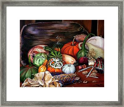 Old Bowl Cornucopia Framed Print