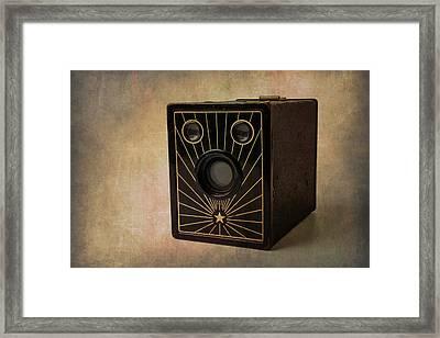 Old Box Camera Framed Print by Garry Gay