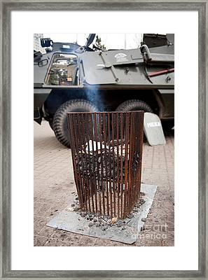 Old Brazier At 32nd Anniversary Framed Print