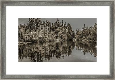 Old Brewery Sepia Tone Framed Print