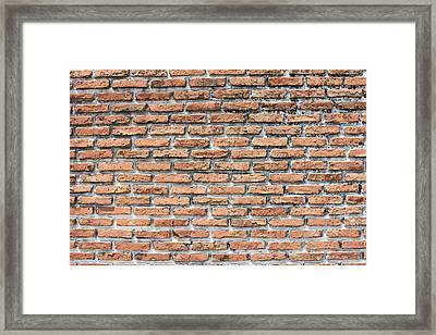 Framed Print featuring the photograph Old Brick Wall by Jingjits Photography