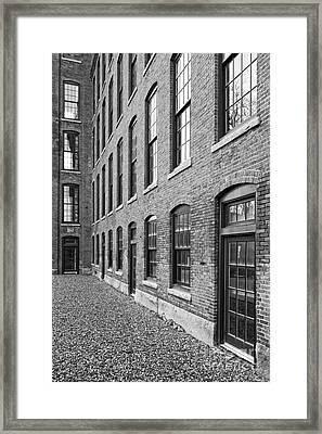 Old Brick Warehouse Black And White Framed Print by Edward Fielding