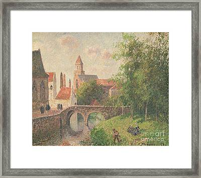 Old Bridge In Bruges  Framed Print by Camille Pissarro