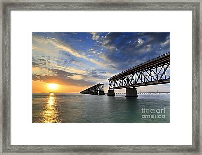 Old Bridge Sunset Framed Print by Eyzen M Kim