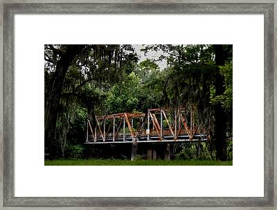 Old Bridge To Town Framed Print