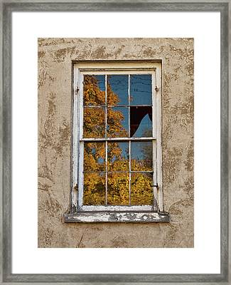 Framed Print featuring the photograph Old Broken Window by Michael Flood