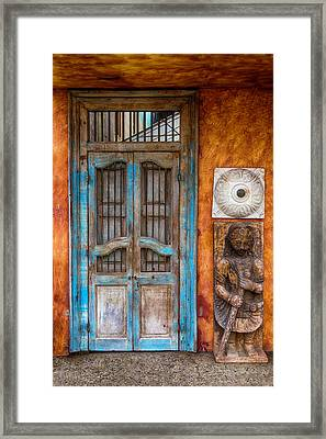 Old Buddha Door Framed Print by Garry Gay