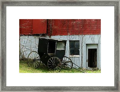 Old Buggy Framed Print by Joyce Kimble Smith