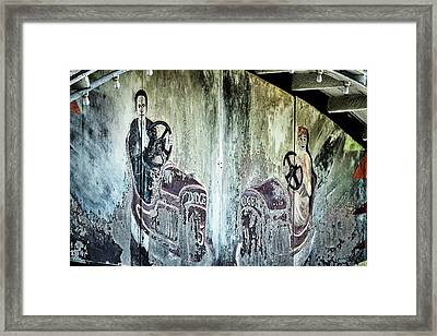 Framed Print featuring the photograph Old Bumper Car Mural by Stuart Litoff