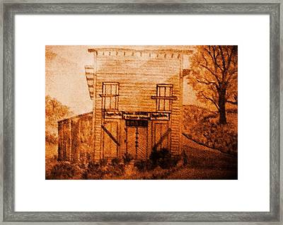 Old Burem Store In Tennessee Framed Print by Debra Lynch