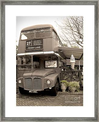 Old Bus Cafe Framed Print